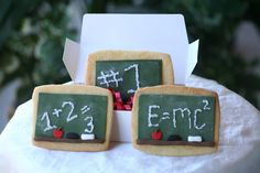 Nerdy Math Teacher Cookies!! I want one of my students to bake me these some day =)