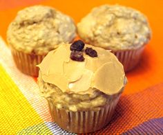 Peanut Butter Banana Muffins - topped with some more Peanut Butter of course.