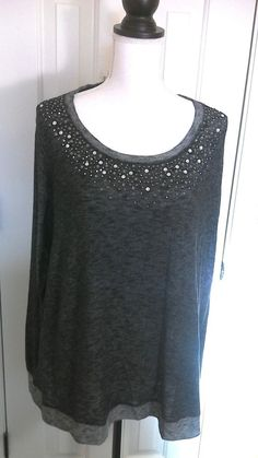 b1d16eadf2381 Maurices Blouse Women s Plus Size Size Long sleeve Blouse with bling. Sandy  Cline · PLUS SIZE CLOTHING