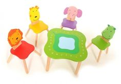 Im Toy Forest Animals Table and Chairs Set - Home and Garden Design Ideas