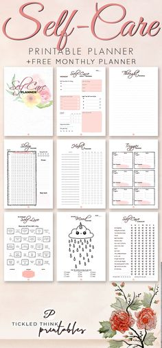 Feeling stressed and overwhelmed? Self care is not selfishness. This is important to your overall health, happiness and stress management. With the help of this self care printable planner, you can now start taking care of yourself every day, improve Monthly Planner, Life Planner, Happy Planner, Year Planner, Agenda Planner, School Planner, Planner Book, Stress Management, Feeling Stressed