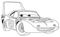 How to attract the King of Disney Pixar Vehicles with Simple Step by Step Drawing Tutorial — Coloring. Race Car Coloring Pages, Sports Coloring Pages, Coloring Pages For Kids, Coloring Sheets, Coloring Book, Colorful Drawings, Easy Drawings, Cartoon Car Drawing, Disney Cars Movie