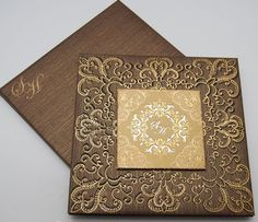 Gold Laser-Cut Wedding Invitations   Muslim wedding cards, Islamic wedding invitations, Cardwala UK