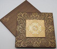 Gold Laser-Cut Wedding Invitations | Muslim wedding cards, Islamic wedding invitations, Cardwala UK