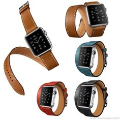 117edcab55c Hermes Luxury Extra Long Genuine Leather Band For Series 2 Double Tour  Bracelet Leather Strap Watchband
