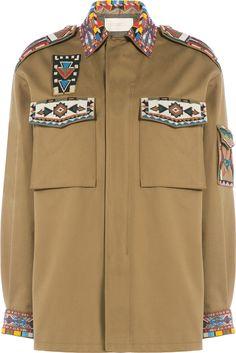 Valentino Beaded Southwestern Cotton Jacket.