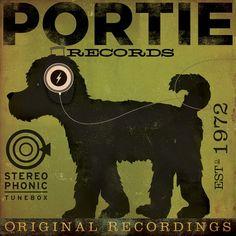 Portuguese Water Dog PORTIE Records graphic by geministudio, $79.00