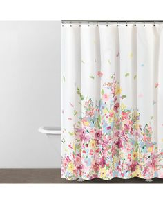 Watercolor Bouquet Shower Curtain - contemporary - shower curtains - Donna Karan Home Collections Purple Bathroom Accessories, Floral Shower Curtains, Contemporary Shower, Window In Shower, Curtains, Shower Curtain, Purple Bathrooms, Girls Bathroom, Bathroom Accessories