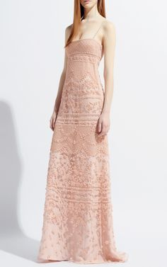 Valentino Poudre Tulle Illusione Gown