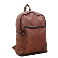 Hot Sale Oil Wax Leather Backpack For Men Western College Style Bags Leather Laptop Bag Casual Backpack & Travel Bag Mochila Zip