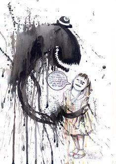 Beautiful Chaos: Watercolor Paintings by Lora Zombie - creepy