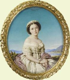 Miniature portrait, Victoria, Princess Royal, in her wedding dress, 1858