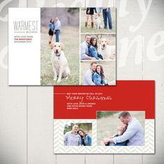 Christmas Card Template: Warmest Wishes D by LaurieCosgroveDesign