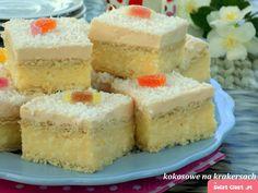 szybkie ciasto kokosowe na krakersach (bez pieczenia)