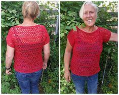 Lindevrouwsweb: Zomertruitje haken Vest Pattern, Crochet Lace, Crochet Tops, Crochet Clothes, Needlework, Pullover, Knitting, Crafts, Women