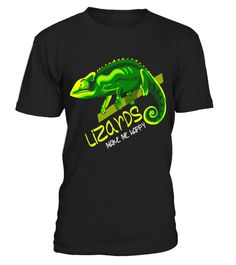 8eb965dcb6f Gecko T-Shirt World Lizard Day Lizards make Me Happy Gift . Special Offer