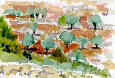 Valley of Battir Palestina 2014 watercolour on paper 26 x 18 cm Watercolour, Paper, Painting, Art, Palestine, Pen And Wash, Art Background, Watercolor Painting, Watercolor