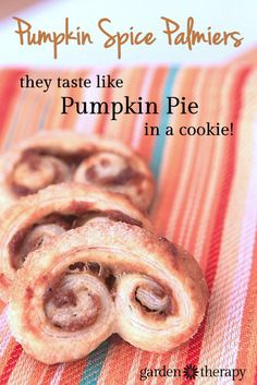 Pumpkin Spice Palmiere Recipe - These cookies taste just like pumpkin pie and take 5 minutes to make!