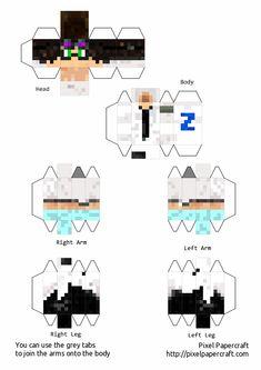 Minecraft Skins, Streamers, Origami, Paper Crafts, Lol, Fan Art, Anime, Monkey Template, Minecraft Crafts