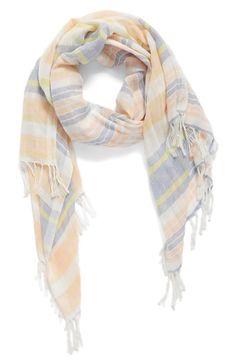 Main Image - Caslon® Stripe Linen Scarf