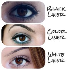 Inner Rim Eyeliners: Introducing Black, White and Color