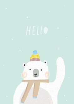 Hello Bear Illustration by ThisisGold on Etsy