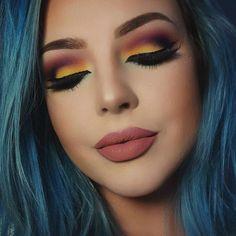 Plum and mustard smoky eye laud magazine beauty makeup, colorful eye makeup Gorgeous Makeup, Pretty Makeup, Love Makeup, Makeup Inspo, Makeup Art, Makeup Inspiration, Hair Makeup, Matte Makeup, Makeup Style
