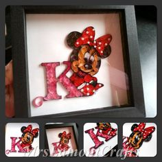 #quilling quilled Minnie mouse
