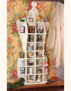 HOURGLASS CURIO - Dress Form Cubby Shelves