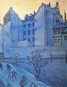 George Grosz, A Blue Morning, Date Unknown Expressionismus in Deutschland Max Beckmann, Paula Modersohn Becker, Max Oppenheimer, Dadaism Art, Ludwig Meidner, Karl Schmidt Rottluff, Modern Art, Contemporary Art, George Grosz