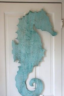 seahorse:  I cheated & made my own (with a little help from my best friend & my dad.)  They are stunning!
