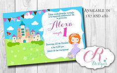 Digital Invitation en 5x7 o 4x6 Royal Princess