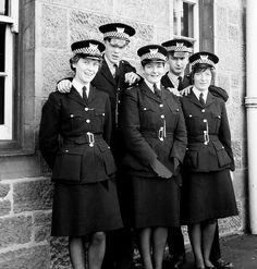 Taken outside Bellshill Police Office around A group of Probationer Constables at Training