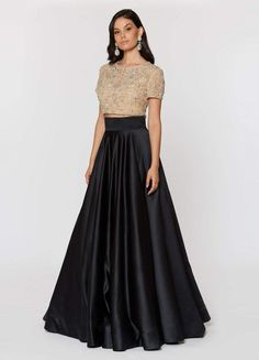 Ashley Lauren - 1251 Beaded Two Piece Ball Gown – Couture Candy Indian Designer Outfits, Designer Dresses, Indian Gowns Dresses, Prom Dresses, Modern Filipiniana Gown, Two Piece Gown, Long Dress Design, Long Evening Gowns, Dress Indian Style
