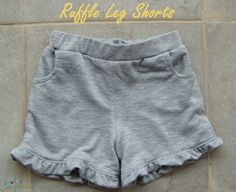 Sewing The Littleheart Collection: Ruffle Leg Shorts