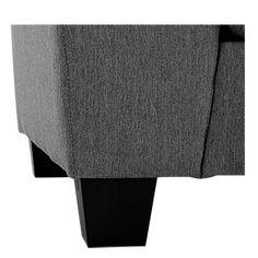 Divan sectionnel en tissu gris | Brault & Martineau Ottoman, Chair, Furniture, Home Decor, Grey Fabric, Decoration Home, Room Decor, Home Furnishings, Stool