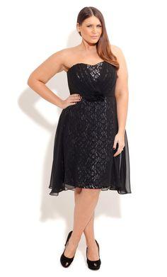 City Chic OVERLAY OLIVIA DRESS- Women's Plus Size Fashion