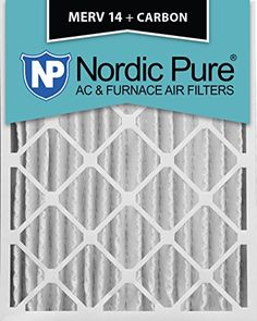 Nordic Pure 12x24x4M14C1 MERV 14 Plus Carbon AC Furnace Air Filters Qty1 >>> Click image for more details.