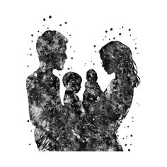 Check out this awesome Mother father son and design on Mother Daughter Art, Mother Art, Father And Son, Family Illustration, Illustration Art, Family Drawing, Family Painting, Tattoo Mutter, Pregnancy Art