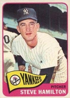 1965 Topps Baseball Card Steve Hamilton New York Yankees Damn Yankees, New York Yankees Baseball, Ny Yankees, Playing For Keeps, Kids Playing, Yankees Pitchers, Daily Facts, Mlb Players, My Childhood Memories