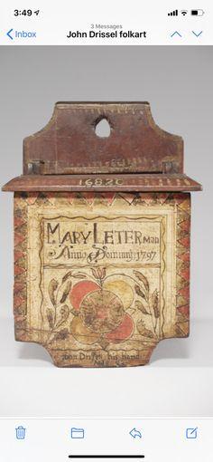 Antique Boxes, Painted Boxes, Folk Art, Primitive, Decorative Boxes, Objects, Home And Garden, Rustic, Antiques