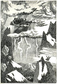 Vintage Illustrations for Tolkien's The Hobbit from Around the World  TOVE JANSSON 1962