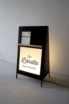 Illuminated Sandwich Board Signage // The Libretto