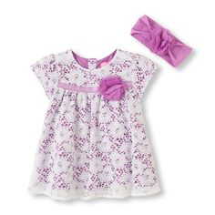 Pop color lace and pretty ruffles with a headwrap to match - so cute!!!