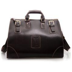 Image of Vintage Handmade Large Genuine Leather Travel Bag   Luggage Bag   Duffle Bag P03 d0da8b624