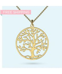 Wear this stunning tree of life pendant as an expression of you love for family and pursuit of knowledge. Available in sterling silver or solid gold.