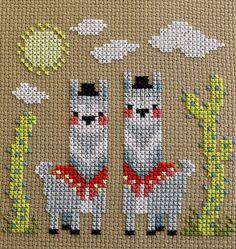 Hola Llama Detail by Shauna Scicluna Cross stitch
