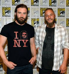 Clive Standen and Travis Fimmel at SDCC. The real question is who do you love more: Rollo or Ragnar?