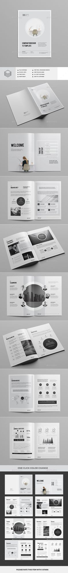 Company Profile 2017 — InDesign INDD #corporate #modern • Download ➝ https://graphicriver.net/item/company-profile-2017/19410231?ref=pxcr