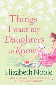 A book by Elizabeth Noble, who is one of my favorite authors.   The book is about a mother, who after getting to know that she has cancer, leaves her daughters letters, telling them things she wanted to say to them but couldn't in her lifetime... it is a heart warming story telling not only the relationship between the mother and the four daughters, and how they deal with the loss of their mother and come to terms with what she had to say to each of them... a MUST read!
